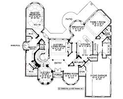 European House Floor Plans by European Style House Plan 4 Beds 5 00 Baths 4500 Sq Ft Plan 20 1199