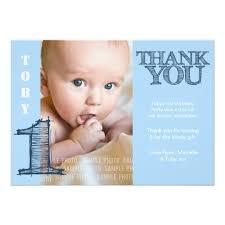 birthday thank you card baby boy blue 1st birthday thank you photo card zazzle
