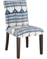 amazing deal on blue and green ikat parsons chair