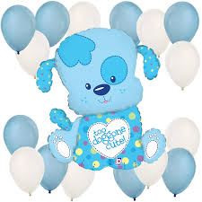 baby shower balloons puppy boy baby shower balloon kit bigdotofhappiness