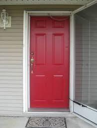 front door makeover cut ruby by valspar curb appeal black