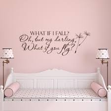 what if i fall oh my darling what if you fly wall decal quote zoom