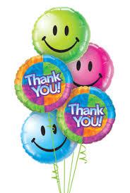 send balloons belfast balloon delivery thank you balloon bouquet 5 balloons