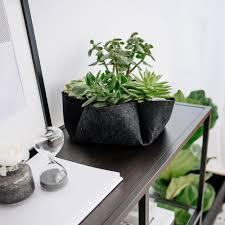 Plant For Desk Myequa Flower Pot For Desk Made Of Felt Equa