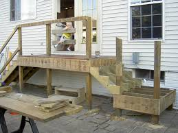 Deck Handrail Code Deck Stair Code Requirements L Shaped Deck Stairs With Landings