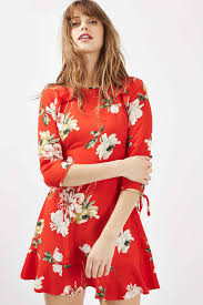 Red Paint by Red Paint Floral Tea Dress Topshop Usa