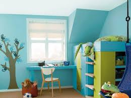 chambre bleu enfant peinture associer les couleurs avec harmonie bleu vert vert et