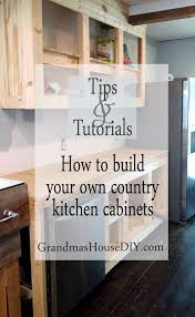 Home Kitchen Furniture How To Diy Build Your Own White Country Kitchen Cabinets