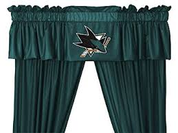 Curtains San Jose Nhl San Jose Sharks 5pc Jersey Curtains And Valance