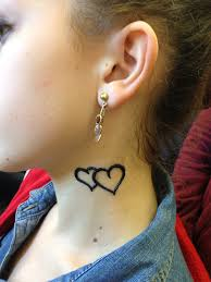 10 shaped small henna on neck small ankle