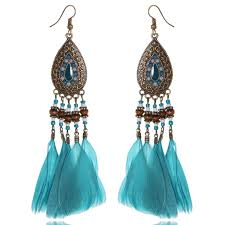 feather earing online get cheap peacock feather earring aliexpress