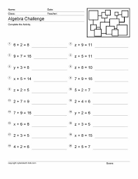 free printable math worksheets variables expressions algebra worksheets year 6 free homeshealth info