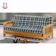 used solid wood frame folding sofa bed with arm buy wooden futon