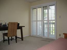 Bypass Shutters For Patio Doors Plantation Shutters Home Depot Sliding Vinyl Vs Wood For Patio