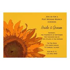 wedding brunch invitation orange sunflower post wedding brunch invitation invitations 4 u