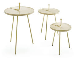 contemporary side table polyurethane painted steel round
