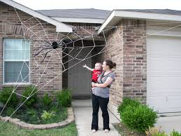 halloween decorated house 20 ft almost giant spider web halloween house by spiderwebman on
