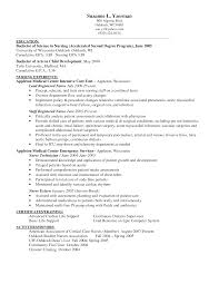 Sample Resume For Lpn New Grad by Sample Resume Critical Care Nurse Contegri Com