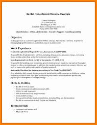 resume examples for medical receptionist resume example and free