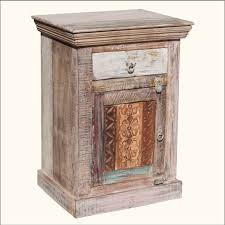 Accent Table With Storage Furniture Reclaimed Wood Accent Table With Drawer And Storage