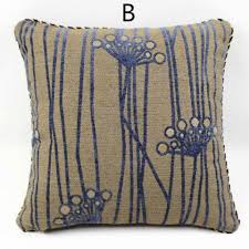 Decorative Pillows For Sofa by Leaves Decorative Pillows For Couch Blue Geometric Jacquard Sofa