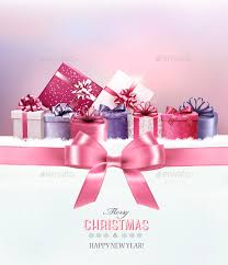 merry christmas ribbon merry christmas card with a ribbon and gift boxes by almoond
