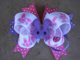 easter hair bows easter bunny hair bow on luulla