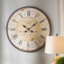 oversized clocks darby home co oversized 31 5 round metal wall clock reviews wayfair
