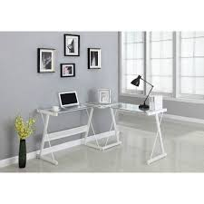 Glass L Shaped Desk Santorini L Shaped Computer Desk Multiple Colors Walmart Com