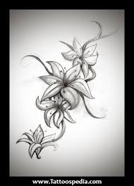 lily flowers vine tattoo design in 2017 real photo pictures