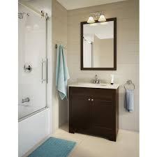 Glacier Bay Bathroom Cabinets Glacier Bay 31 In Java Vanity Combo Hdv31 Ocglb Home Depot