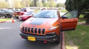 orange jeep cherokee 2014 jeep cherokee trailhawk mango tango ew216034 seattle