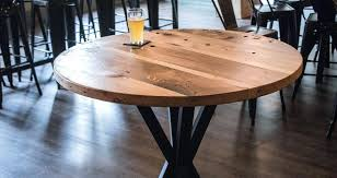 reclaimed wood pub table sets industrial pub table style reclaimed wood tables set