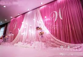 wedding backdrop name 3m 6m 10ft 20ft wedding curtain backdrops with yarn swag stage