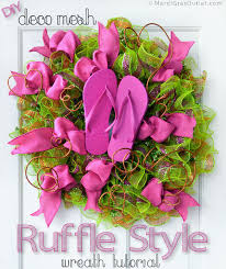ideas by mardi gras outlet flip flop ruffled ribbon wreath
