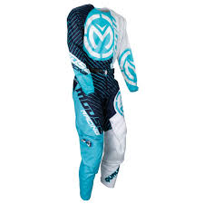 white motocross gear moose racing 2018 youth qualifier jersey pant package blue white