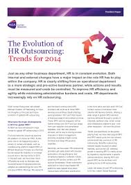 the evolution of hr outsourcing trends for 2014