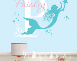 Etsy Wall Decals Nursery Mermaid Wall Decals Etsy