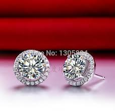 diamond stud earrings on sale 2ct gold earrings brilliant lc carbon diamond stud earrings