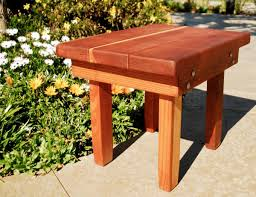 Sturdy Table Sturdy Wood Side Table Natural Redwood Side Tables