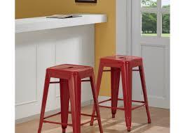Linon Home Decor Bar Stools Bar Stools Leather Backless Bar Stool Napa Wooden Seat Swivel