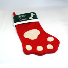 paw christmas stocking