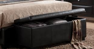 bench amazing arresting black leather bedroom storage bench