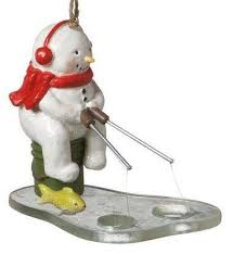 fishing santa ornament ornaments
