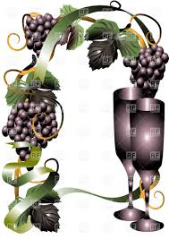 margarita glasses clipart wine glasses and grape vector clipart image 25785 u2013 rfclipart