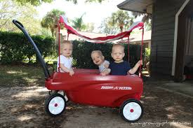 Radio Flyer Wagons Used How To Tell Age Our New Wheels Radio Flyer Triple Play Wagon