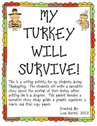 thanksgiving turkey narrative writing project by lora hertel tpt