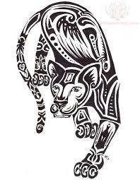 tribal panther tattoo design
