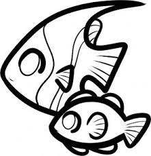 coloring pages glamorous fish drawings kids spt draw