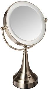 zadro lighted makeup mirror amazon com zadro 10x mag next generation led cordless double sided